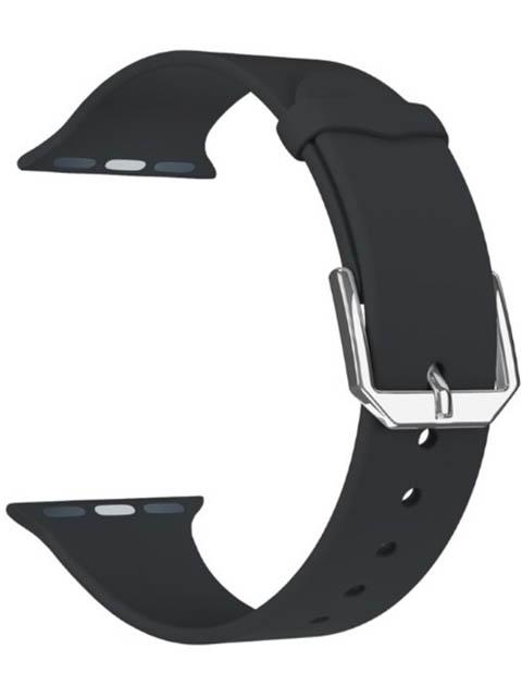 Фото - Аксессуар Ремешок Lyambda для APPLE Watch 38/40mm Alcor Black DS-APS08C-40-BK ремешок lyambda alcor для apple watch голубой ds aps08c 44 bl