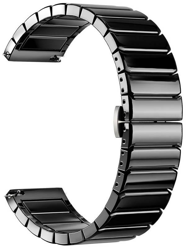 Аксессуар Универсальный керамический ремешок Lyambda Libertas 20mm Black DSG-09-04T-20-BK