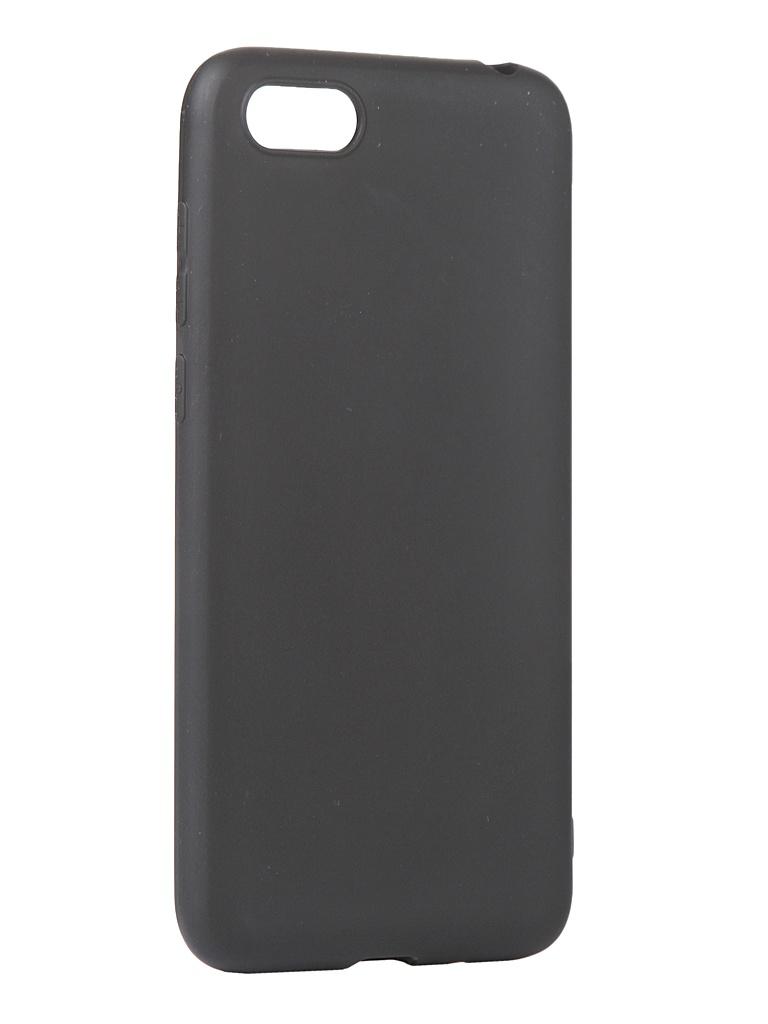 Чехол mObility для Honor 7A/Y5 Prime/Y5 Lite Soft Touch Black УТ000020677