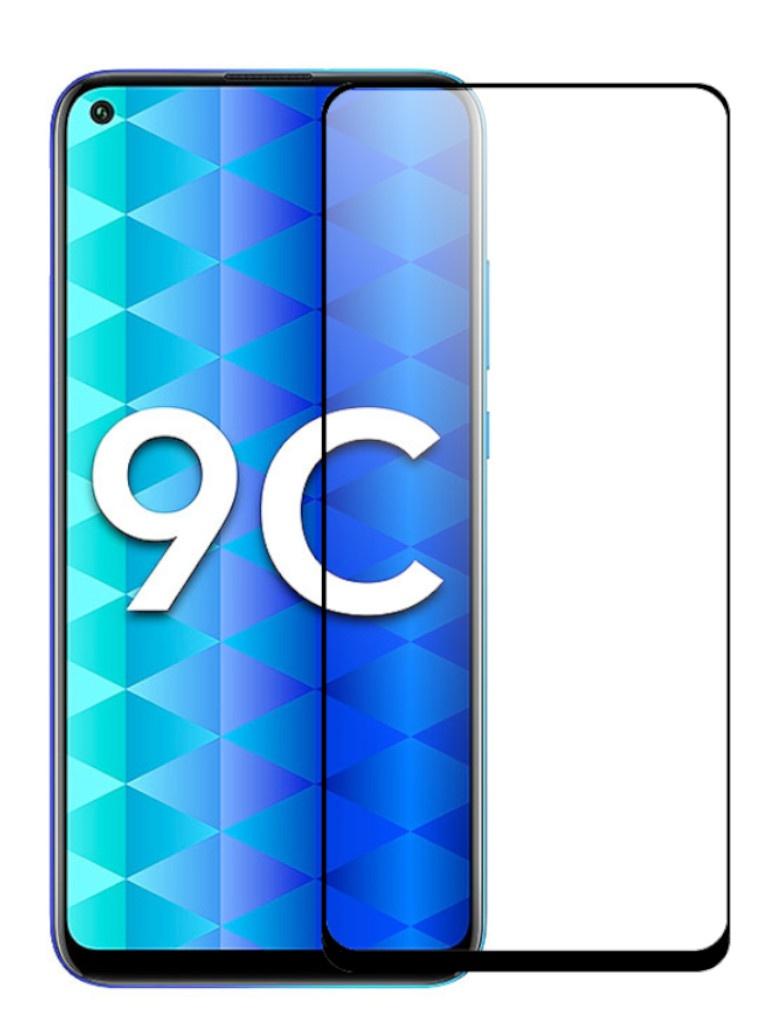 Защитное стекло mObility для Honor 9C Full Screen Glue Black УТ000021158