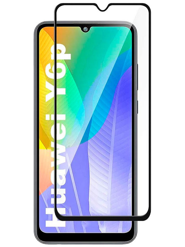 Защитное стекло mObility для Huawei Y6p Full Screen Glue Black УТ000021161
