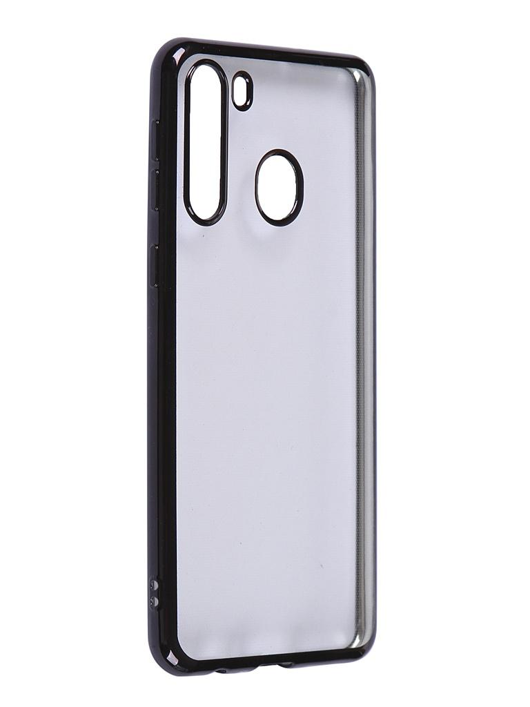 Чехол iBox для Samsung Galaxy A21 Blaze Silicone Black Frame УТ000020476