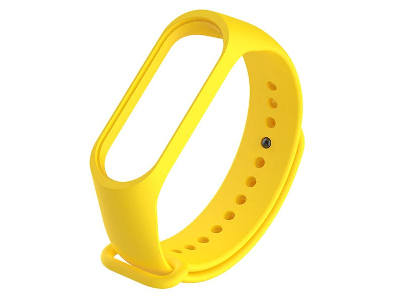 Aксессуар Ремешок Red Line для Xiaomi Mi Band 3 / 4 Silicone №11 Yellow УТ000021125