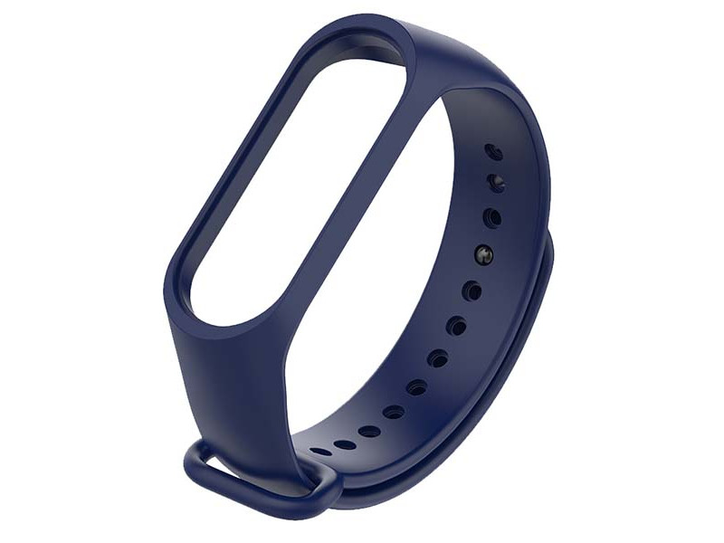 Aксессуар Ремешок Red Line для Xiaomi Mi Band 3 / 4 Silicone №3 Navy Blue УТ000021118