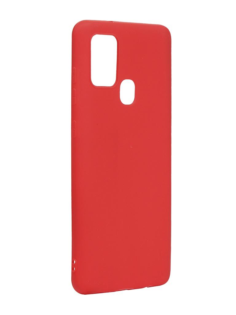Чехол Zibelino для Samsung Galaxy A21s A217 Soft Matte Red ZSM-SAM-A21S-RED