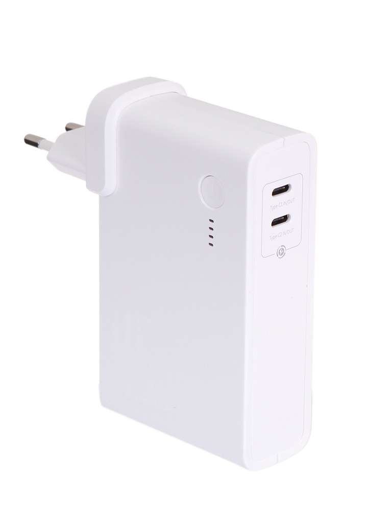 Внешний аккумулятор Baseus Power Station GaN C+C 10000mAh 45W EU White PPNLD-F02