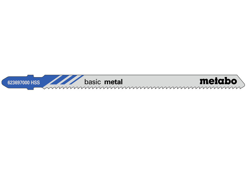 Пилка Metabo T318B HSS по стали/цветному металлу 5шт 623697000