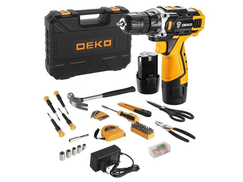 Электроинструмент Deko DKCD12FU-Li + набор 104 предмета, 2 аккумулятора 063-4117