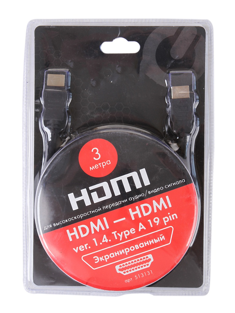 Фото - Аксессуар Sonnen Premium HDMI AM-AM 3m 513131 d am