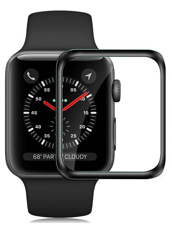 Аксессуар Ультратонкое полимерное стекло Barn&Hollis для Apple Watch S4 / S5 - 40mm Full Screen 3D Black УТ000021855