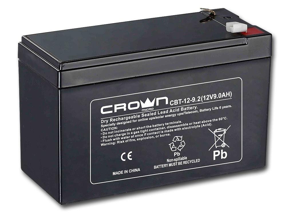 Аккумулятор для ИБП Crown CBT-12-9.2