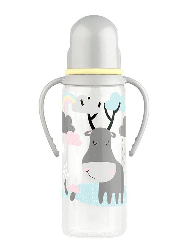Бутылочка с соской Lubby 250ml от 0 мес. Grey 11391 прорезыватели lubby погремушка от 4 мес
