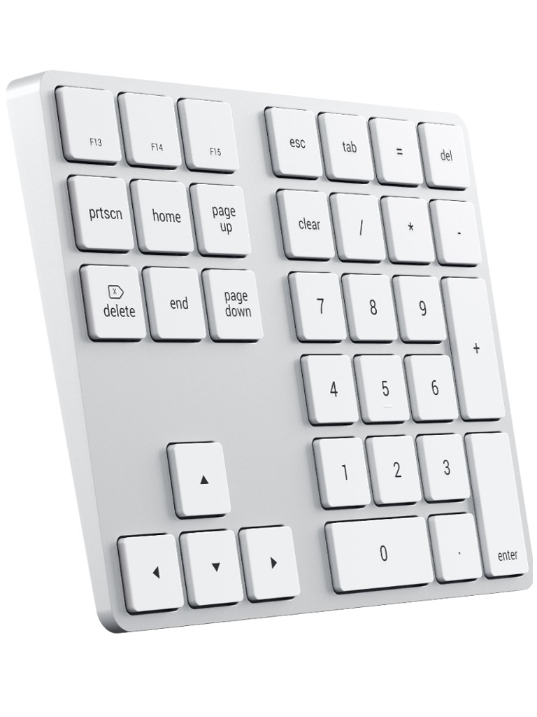 Клавиатура Satechi Aluminum Slim Wireless Keyboard Silver ST-XLABKS