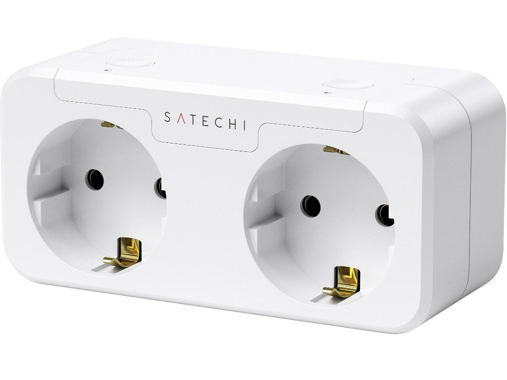 Розетка Satechi Homekit Dual Smart Outlet White ST-HK2OAW-EU