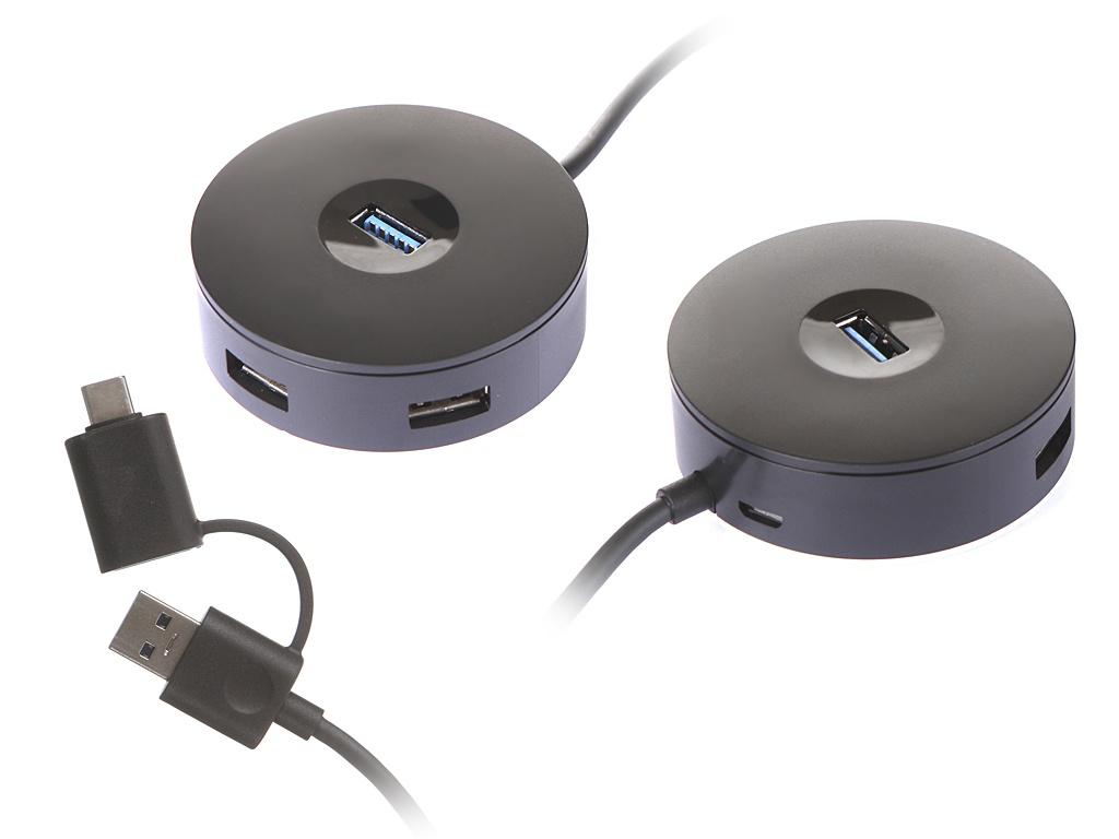 Хаб USB Baseus Round Box 3xUSB 3.2 1m Black CAHUB-GA01