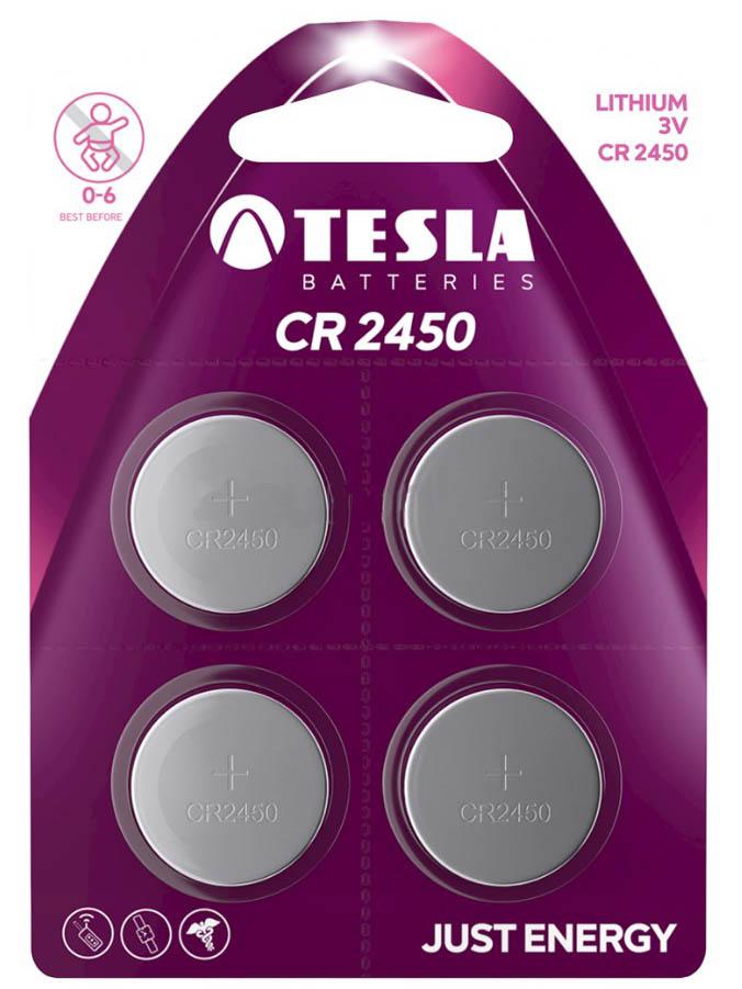 Батарейка CR2450 - Tesla (4 штуки)