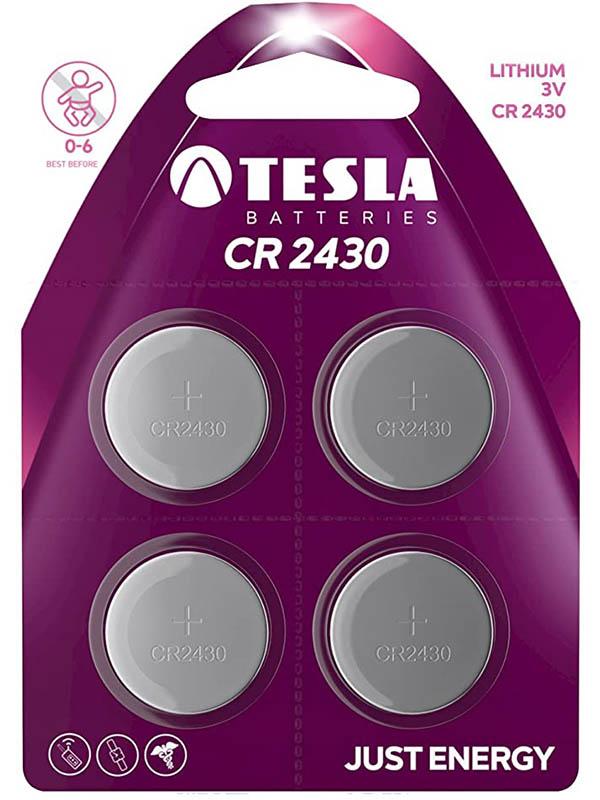 Батарейка CR2430 - Tesla (4 штуки)