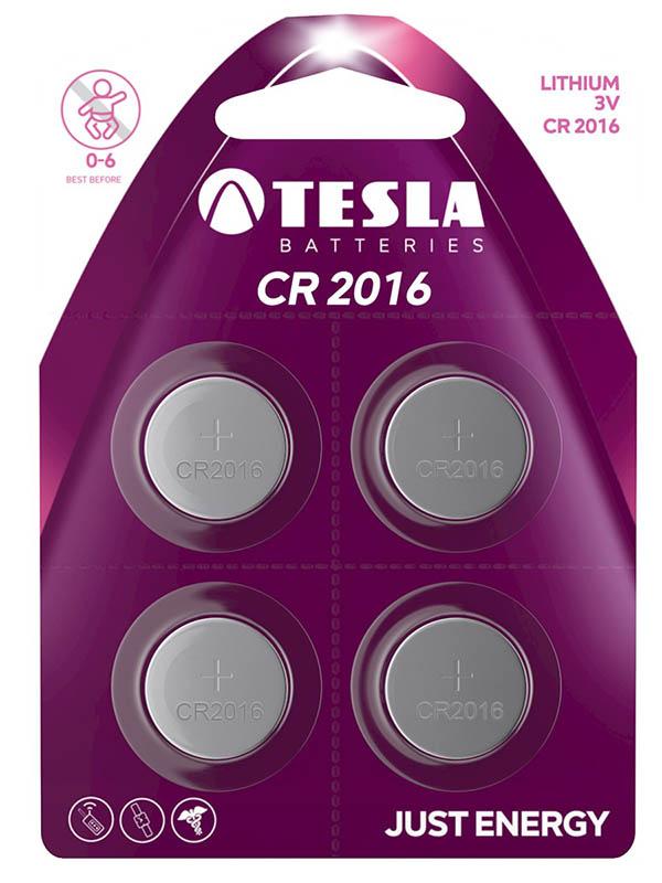 Батарейка CR2016 - Tesla (4 штуки)