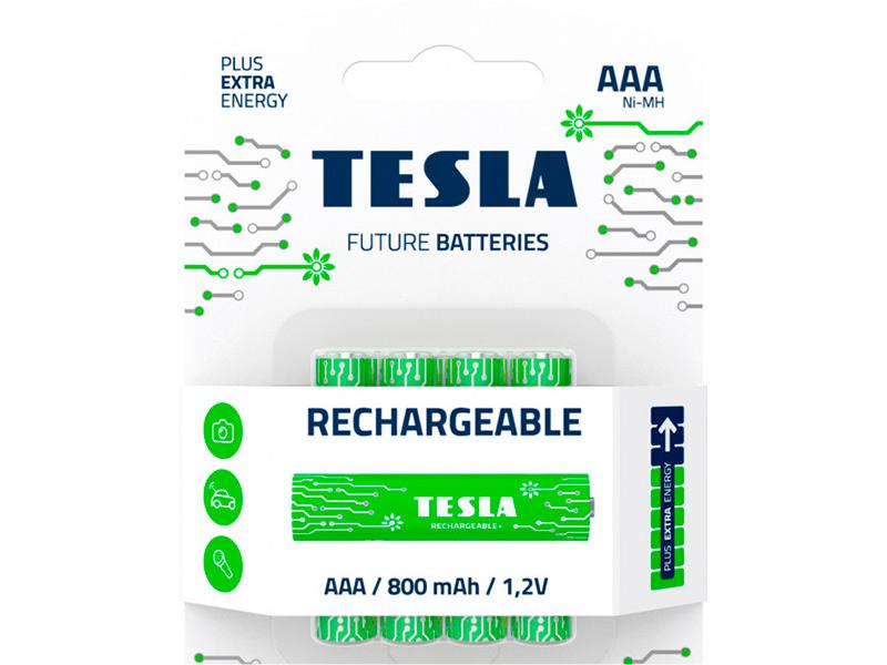 Батарейка AAA - Tesla Rechargeable+ (4 штуки)