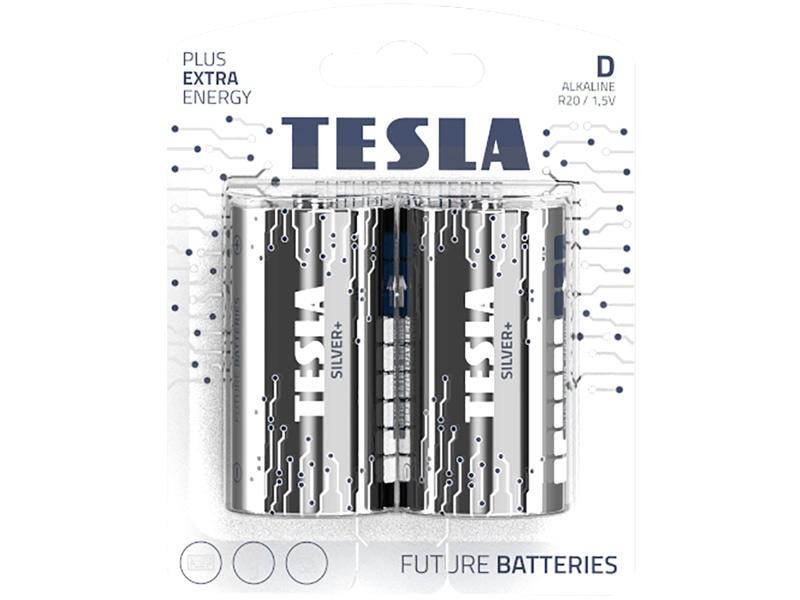 Батарейка D - Tesla Silver+ (2 штуки)