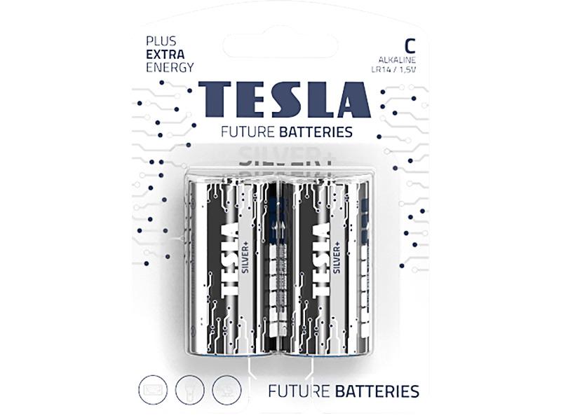 Батарейка C - Tesla Silver+ (2 штуки)