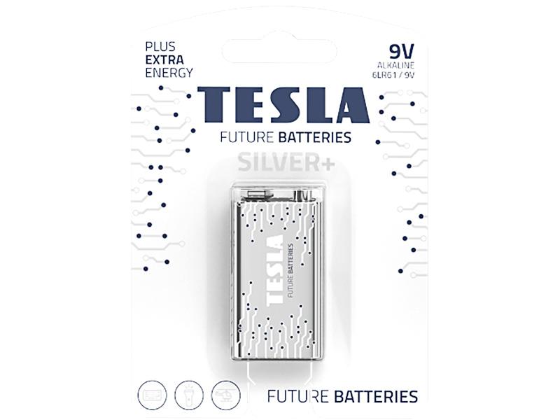 Батарейка Крона - Tesla 9V Silver+ (1 штука)