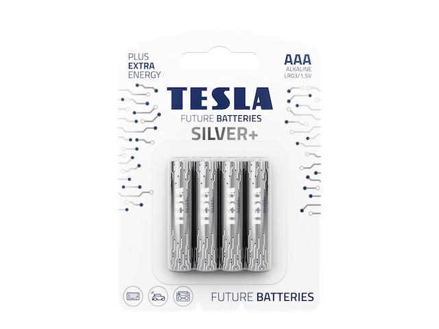 Батарейка AAA - Tesla Silver+ (4 штуки)
