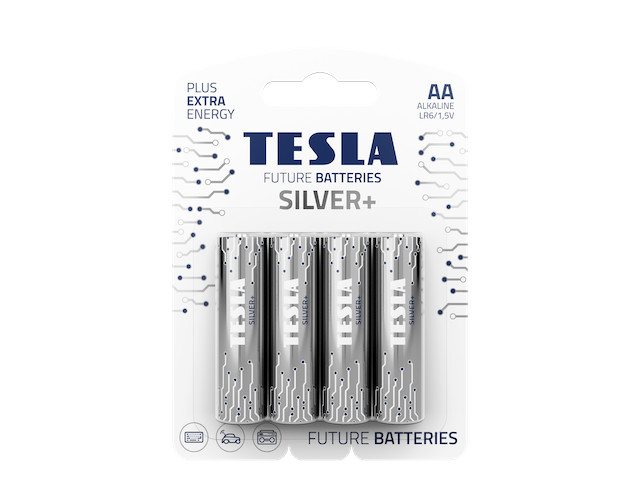 Батарейка AA - Tesla Silver+ (4 штуки)