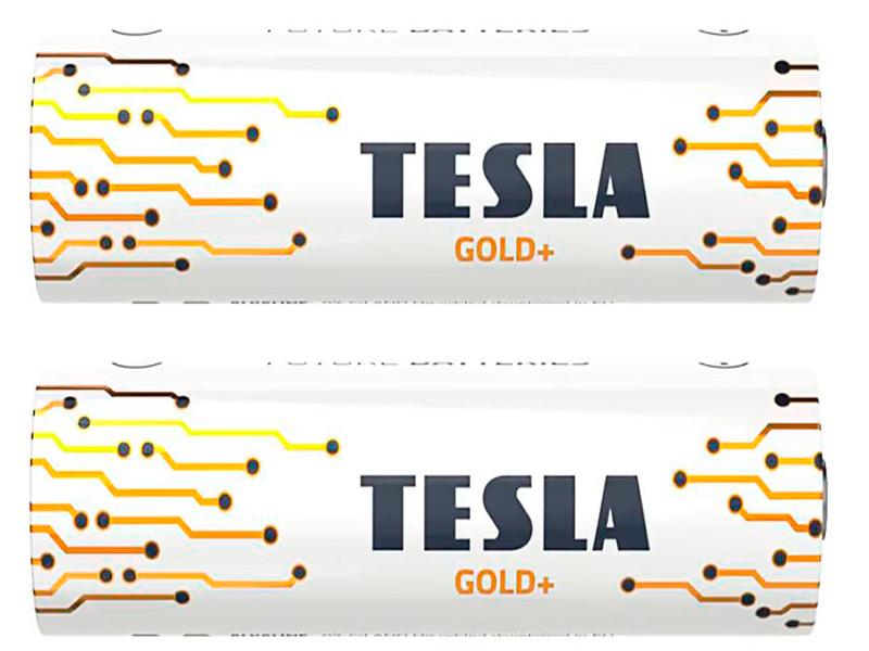 Батарейка D - Tesla Gold+ (2 штуки)