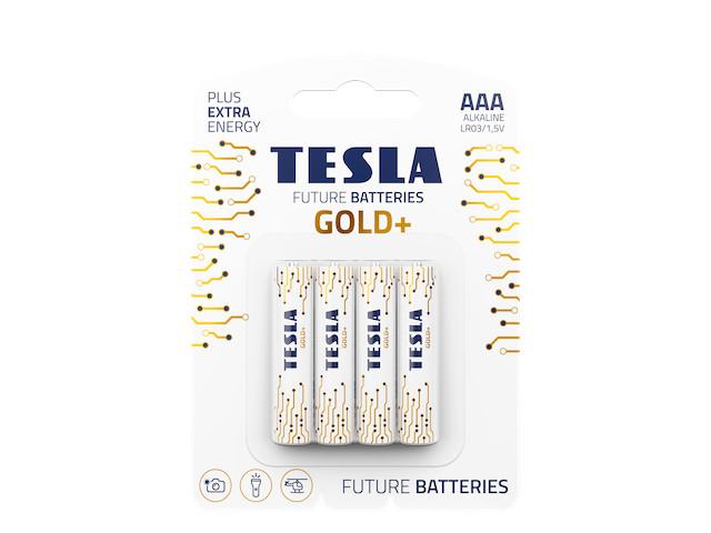 Батарейка AAA - Tesla Gold+ (4 штуки)