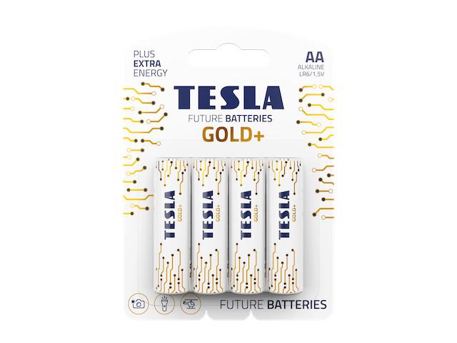 Батарейка AA - Tesla Gold+ (4 штуки)