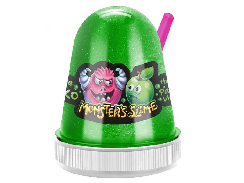 Слайм KiKi MonsterS Slime Сочное Яблоко 130g SL002