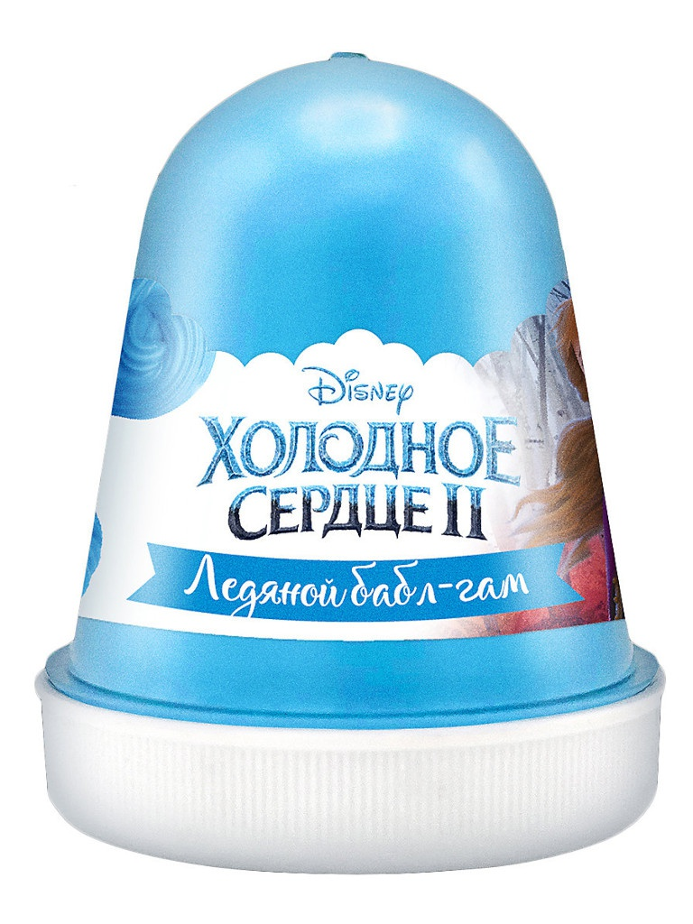 Слайм KiKi Disney Fluffy Ледяной бабл-гам Light-Blue 120ml DSF01