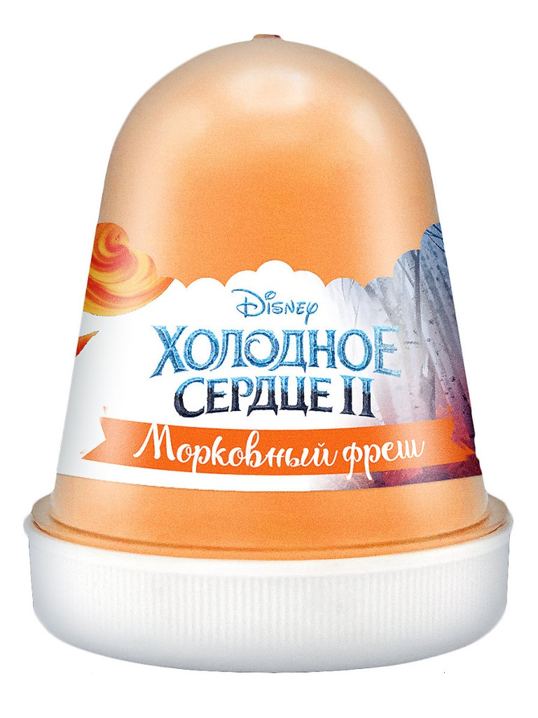 Слайм KiKi Disney Fluffy Морковный фреш Orange 120ml DSF15