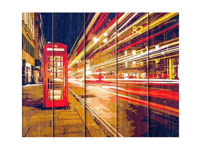 Картина по номерам Flamingo Ночной Лондон 40x50cm FLA018