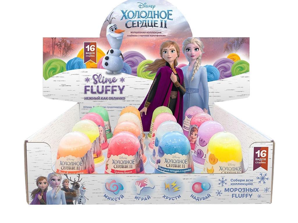 Слайм KiKi Disney Monsters Fluffy Шоу-бокс 16шт SB004