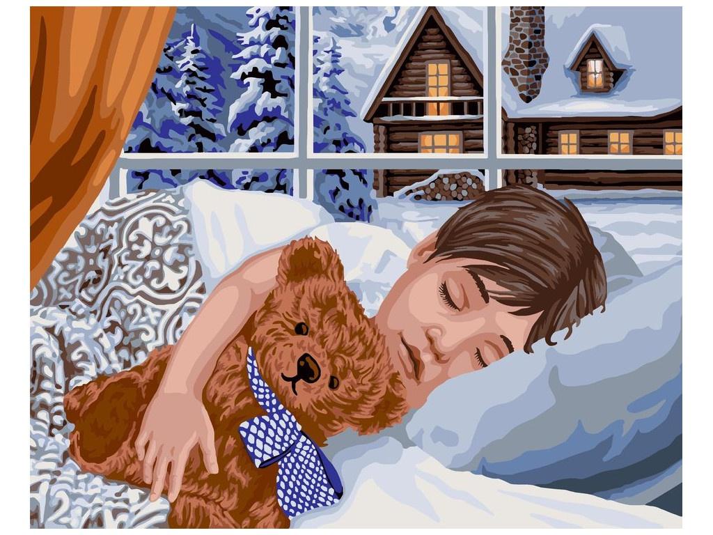 Картина по номерам Русская Живопись Зимний сон 40x50cm L032