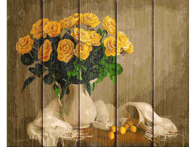 Картина по номерам Dali Желтые розы WS032
