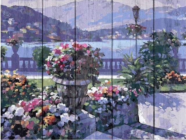 Картина по номерам Dali Сиреневая набережная WS027