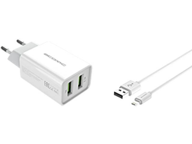 Зарядное устройство Atomic U207I 2.1A + кабель Lightning зарядное