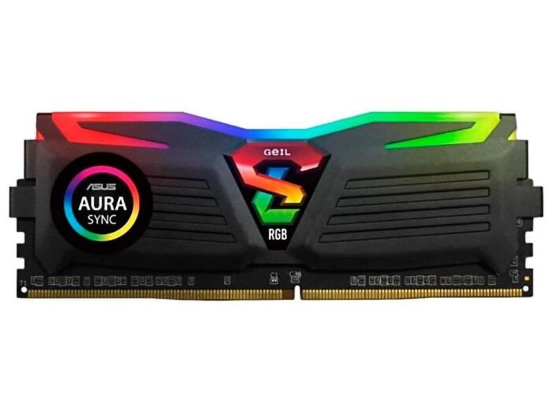 Модуль памяти GeIL Super Luce DDR4 DIMM 3200MHz PC-25600 CL16 - 16Gb GLS416GB3200C16ASC