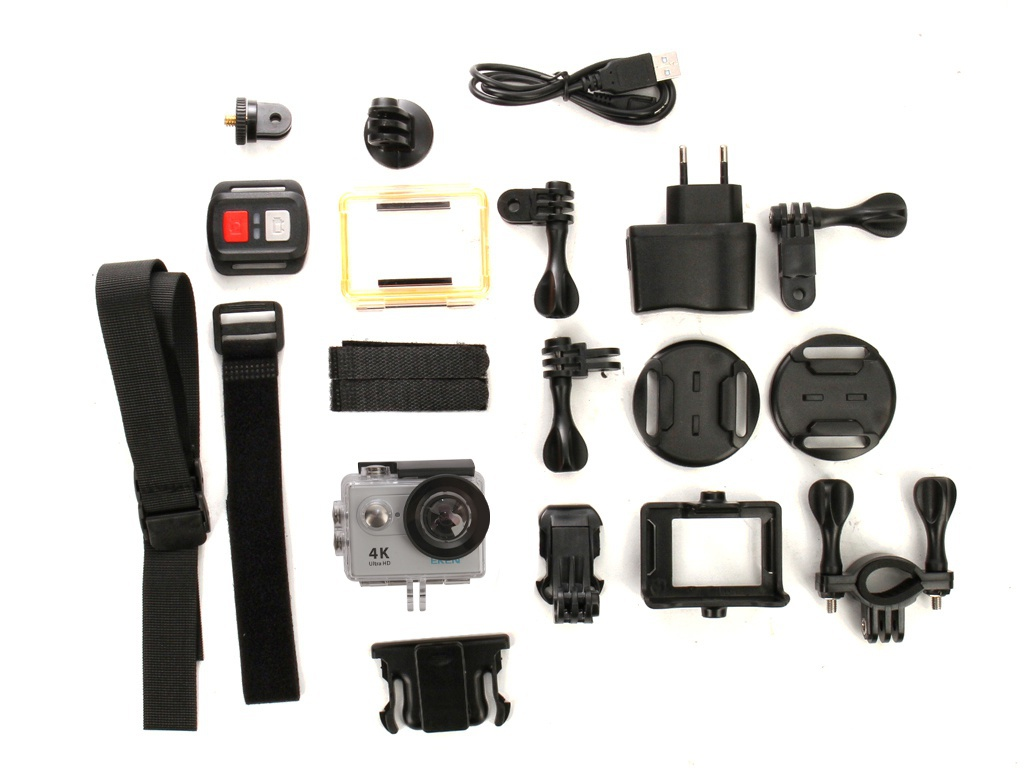 Экшн-камера EKEN H9R Ultra HD Silver Выгодный набор + серт. 200Р!!!