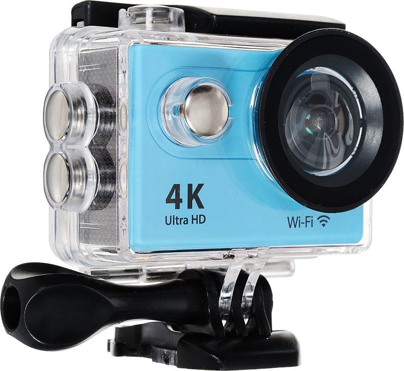 Экшн-камера EKEN H9 Ultra HD Blue Выгодный набор + серт. 200Р!!!