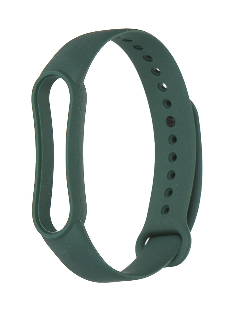 Aксессуар Ремешок Xiaomi для Mi Band 5 Silicone Strap Dark Green