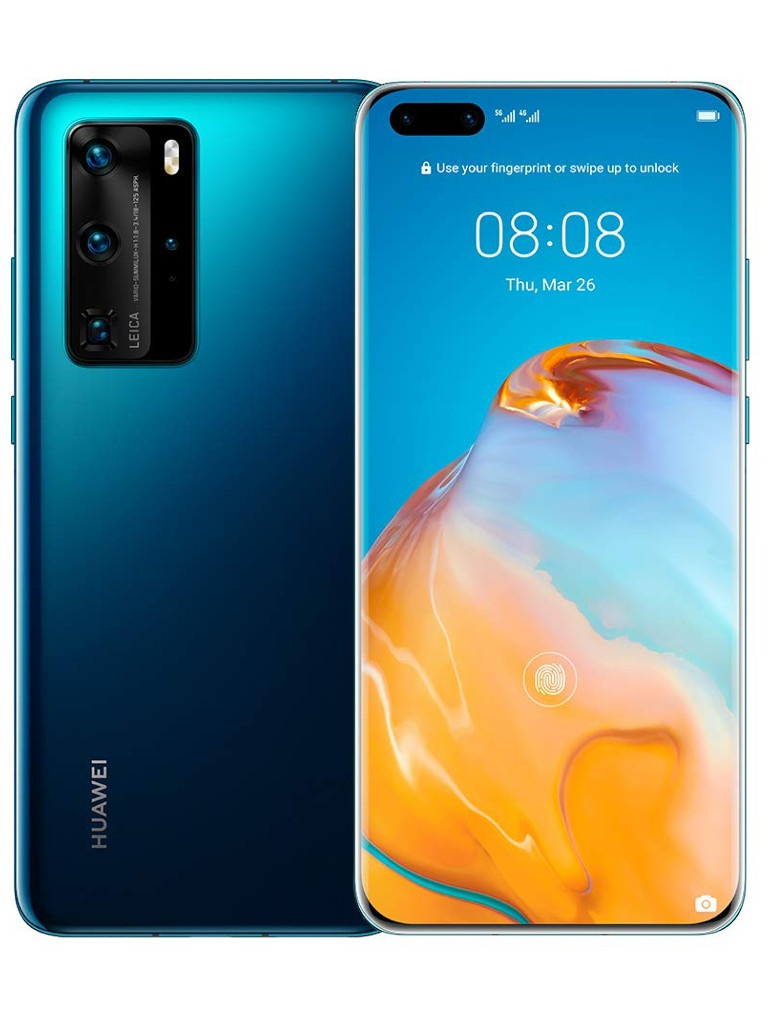 Сотовый телефон Huawei P40 Pro 8/256Gb Deep Sea Blue Выгодный набор для Selfie + серт. 200Р!!!