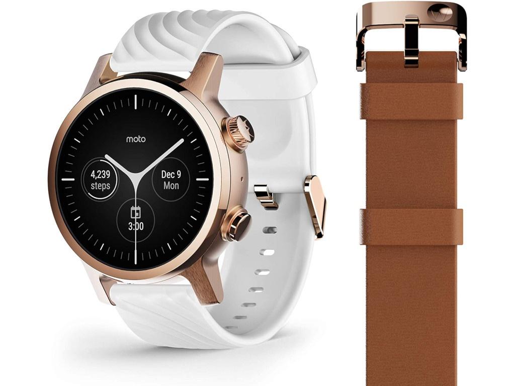 Умные часы Motorola Moto 360 3rd Gen Stainless Steel Rose Gold M360FS19RG
