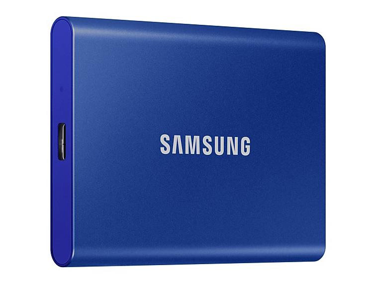Твердотельный накопитель Samsung Portable T7 500Gb Blue MU-PC500H/WW