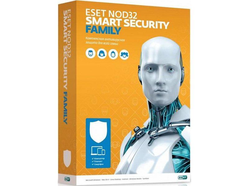 Программное обеспечение Eset NOD32 Smart Security Family для 3 устройств 1 год Rnwl Box NOD32-ESM-RN(BOX)-1-3