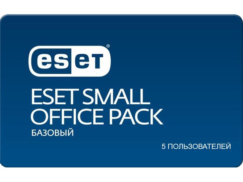 Программное обеспечение Eset NOD32 Small Office Pack Базовый New для 5 пользователей NOD32-SOP-NS(CARD)-1-5