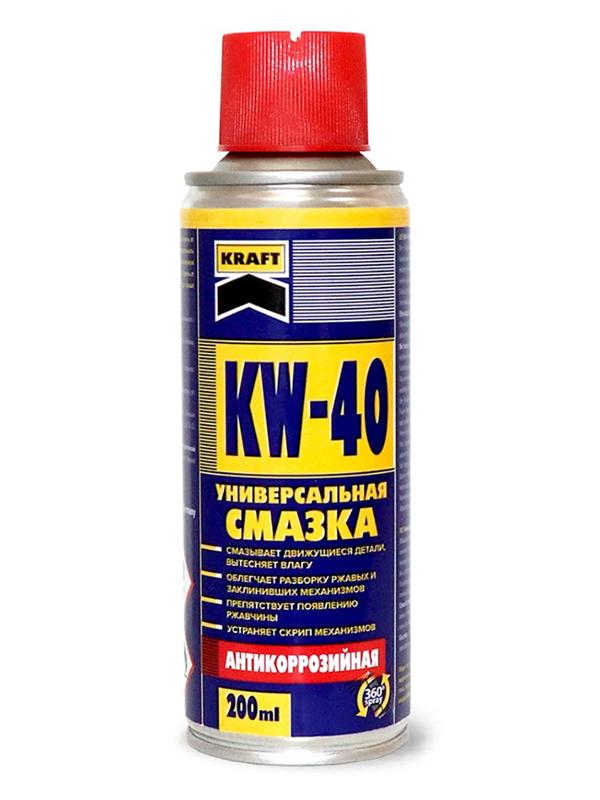 Универсальная смазка Kraft KW-40 200мл KF001
